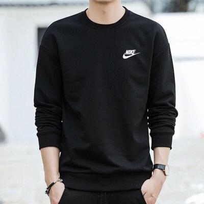 NIKE耐克男裝 2020春季運動服長袖套衫針織寬松時尚訓練休閑圓領衛衣BV2667-010