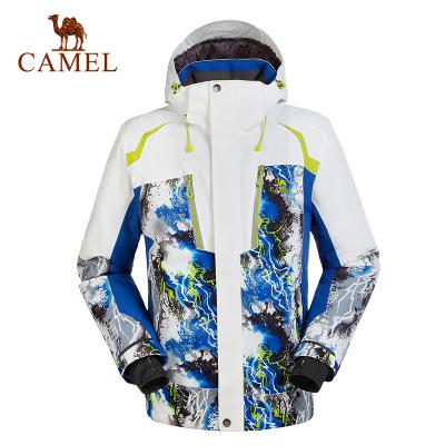 CAMEL駱駝戶外男款滑雪服冬季防風保暖戶外滑雪衣