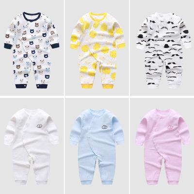 嬰兒連體衣服春秋睡衣新生兒哈衣爬服長袖初生寶寶和尚服純棉秋裝