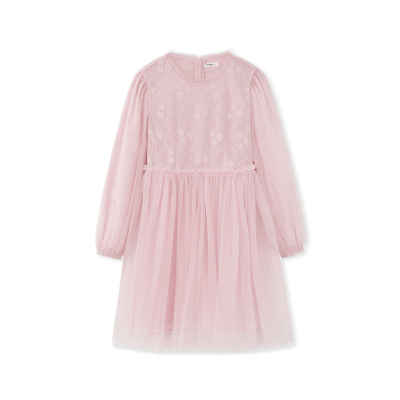 巴拉巴拉童装女童连衣裙儿童裙子2019新款秋装洋气蕾丝长袖公主裙
