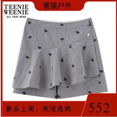 Teenie Weenie小熊夏女裝格紋休閑寬松短褲TTTH82610B有贊 商品有多個顏色,尺寸,規格,拍下
