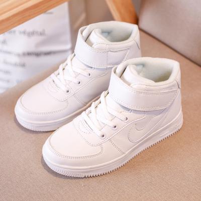 刺桐先生秋冬季男女童鞋小白鞋男女中大童鞋高幫板鞋親子鞋棉鞋保暖防水