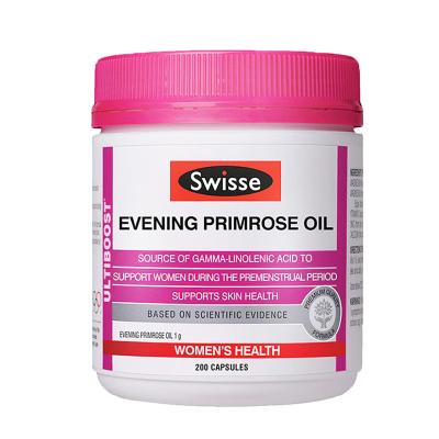 Swisse 月見草油膠囊 瓶裝 200粒/瓶 經前呵護 女性經期健康 澳洲進口