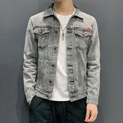 吉普戰車(JIPUZHANCHE)秋冬新款2020男士牛仔服男外套男寬松時尚韓版潮流牛仔衣