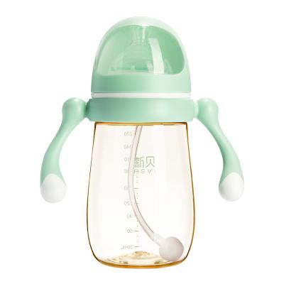 新贝宇航员系列奶瓶 宽口径PPSU奶瓶270ml绿色 9068