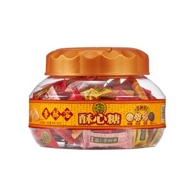 徐福记 酥心糖桶600g 酥糖婚庆喜糖果送礼休闲食品零食礼盒下午茶点心