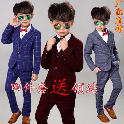 2019秋冬款男童钢琴套装儿童小西装礼服主持人西服威珺