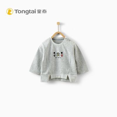 童泰TONGTAI婴儿纯棉肩开上衣6-24个月-3岁宝宝T恤衫打底衫