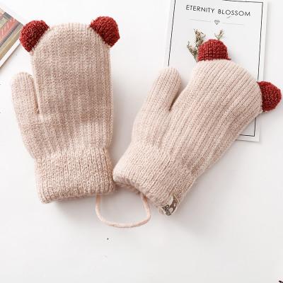 兒童手套冬季3歲寶寶女童保暖男童可愛5冬加絨加厚秋冬小孩小童女