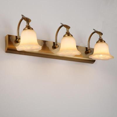 蒹葭欧式LED镜前灯 浴室卫生间简约梳妆台镜灯饰具D58 3头(白炽灯)
