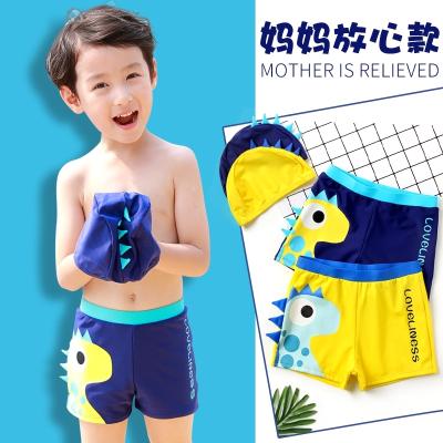 兒童泳褲男童中大童分體游泳衣男孩小寶寶游泳褲小童泳衣送帽