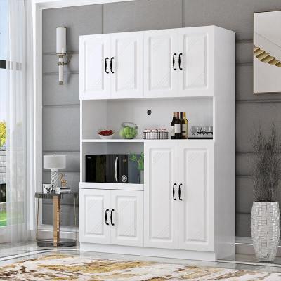 ONEVAN歐式餐邊柜廚房餐廳柜子簡約現代儲物柜碗柜櫥柜微波爐柜茶水柜