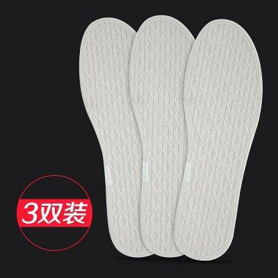 狄夫人 舒适手工棉麻鞋垫男女吸汗防臭透气亚麻运动休闲除臭鞋垫