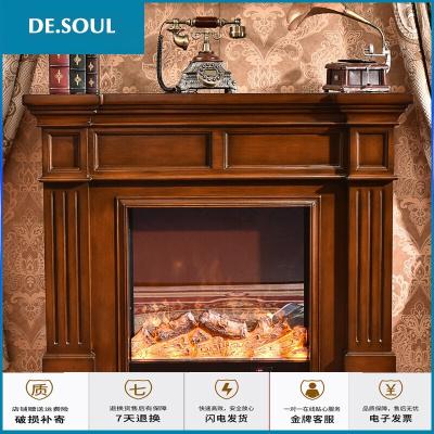 苏宁放心购同林鸟美式壁炉实木壁炉架欧式壁炉装饰壁炉柜取暖壁炉芯家具1.2米1.5米