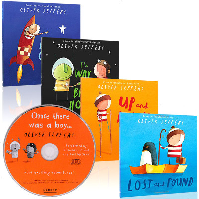 Oliver Jeffers 智慧小孩 亲子绘本4本 英文原版绘本 Lost and Found,Up and Do