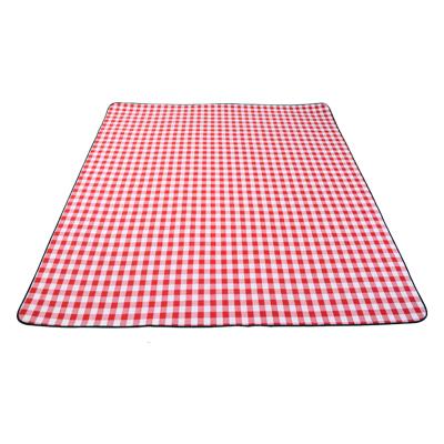 三極戶外(Tripolar) TP1208 紅格子野餐墊戶外公園加厚5mm坐墊爬行地墊休閑加大防潮墊