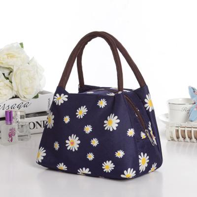 時尚休閑防水女包印花手提包可愛便當包飯盒袋牛津帆布媽咪小包
