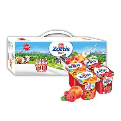 zott卓德脱脂含乳饮品 (水蜜桃+覆盆子)115g*12杯 德国进口酸牛奶礼盒装