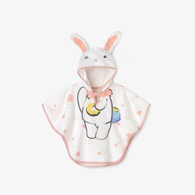 英氏嬰兒浴袍男女寶四季有帽卡通浴巾孕嬰童浴衣浴巾