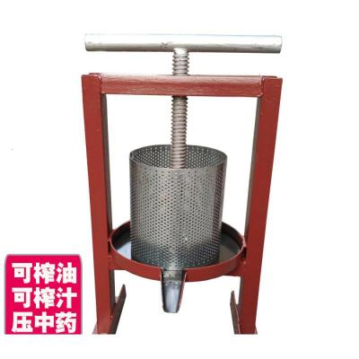 家用小型過濾機古達 豬油渣壓餅機 螺旋壓榨機 手動手搖榨油機壓油機