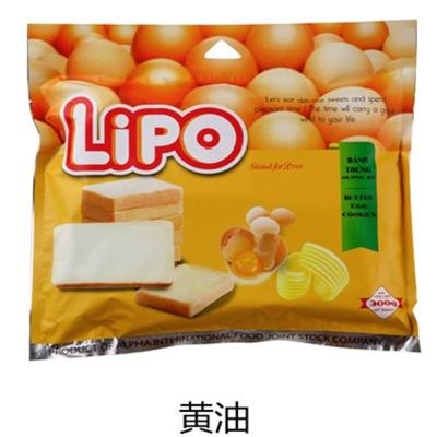 Lipo 進口糕點 面包干(黃油味300g) 愛美味好吃休閑零食 越南進口