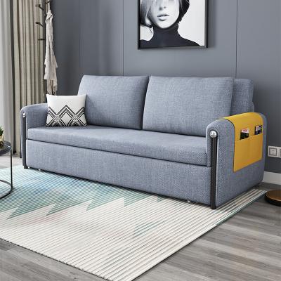 禧漫屋 北歐簡易沙發床可儲物小戶型客廳雙三人多功能簡約現代乳膠折疊沙發床鋼架