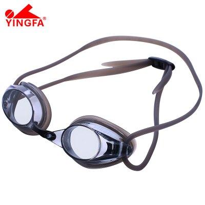 英發YINGFA泳鏡平光小鏡框競速減阻防霧防水高清游泳眼鏡專業比賽訓練跳水成人兒童小孩中大童眼鏡Y570