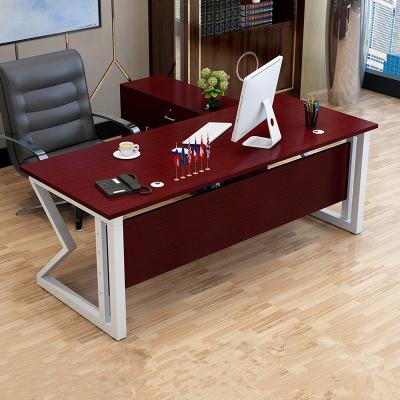 鑫环境 办公桌简约现代单人老板桌时尚办公家具大班台主管桌经理桌电脑桌
