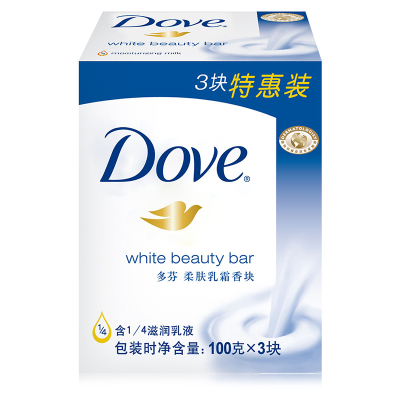 多芬柔肤乳霜香块100g*3块装