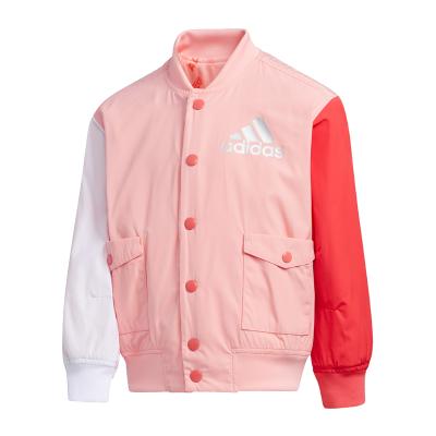 阿迪達斯(adidas)童裝2020春季女小童兩面穿外套梭織運動夾克FU3577