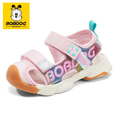 BOBDOG HOUSE巴布豆童鞋兒童涼鞋2020夏季韓版潮軟底機能鞋男女童包頭沙灘鞋子8659