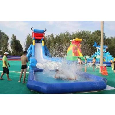 【工廠直營】充氣游泳池家用嬰兒方形水上玩具兒童戶外滑梯游樂設施超大帶3歲 龍頭滑梯六一兒童節禮物