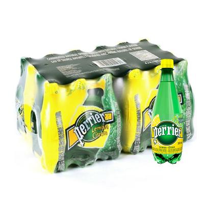 【产自法国】巴黎水(Perrier)天然气泡矿泉水(柠檬味)塑料瓶装 500ml*24瓶/箱 进口饮用水 法国进口