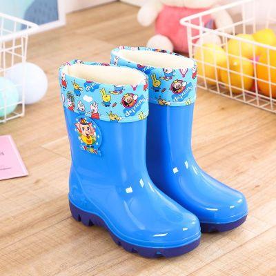 2-10歲兒童雨鞋男女鞋加絨卡通膠靴靴防滑大中小童膠鞋雪地靴 莎丞