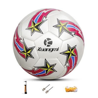狂迷世界杯足球紅白5號球耐磨高彈性成人青年少年球個性花式訓練專業比賽鍛煉用球