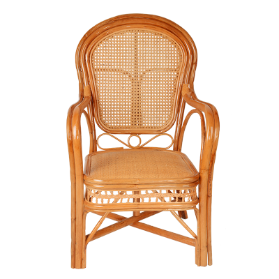 戶外休閑藤椅真藤椅真藤椅休閑坐椅辦公椅靠背椅茶樓椅戶外陽臺藤編藤椅三件套單件