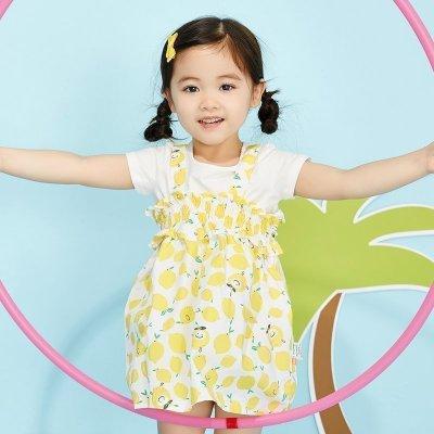 【2件2.5折價:42.3】moomoo童裝小女孩ins風套裝裙超洋氣女童潮衣套裝連衣裙夏裝新款