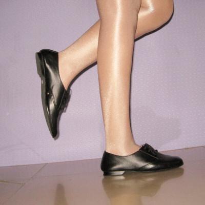 WJX舞锦绣 女 软底 练功训练舞蹈健美黑色形体舍宾鞋