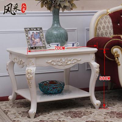 檀星星歐式沙發邊柜茶桌客廳現代角幾美式方幾小桌子小方桌茶幾邊桌邊幾