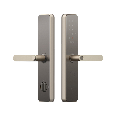 小米(MI)米家智能门锁 磨砂金 标准锁体版 指纹密码锁 家用防盗门电子锁