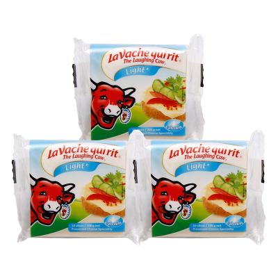 乐芝牛奶酪芝士 早餐搭配原装进口再制干酪 三明治淡味切片奶酪200g*3袋