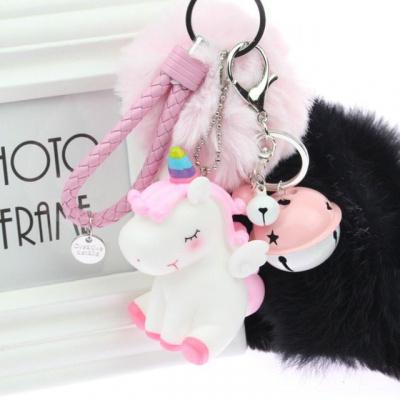 新款ins網紅芝麻街汽車鑰匙扣掛件可愛毛絨簡約公仔少女心鑰匙鏈