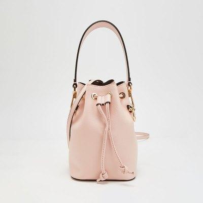 【20春夏新款】FENDI/芬迪 女士MON TRéSOR系列牛皮迷你款式水桶包 粉色