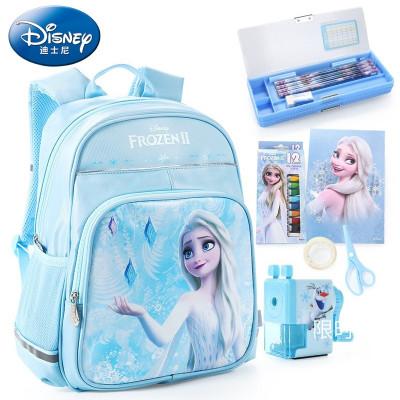 迪士尼(DISNEY)冰雪奇緣書包文具禮盒16件套 小學生文具禮盒套裝艾莎公主文具禮包兒童學習用品開學禮
