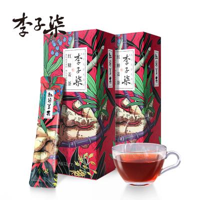 李子柒 紅糖姜茶女生大姨媽姜紅糖水暖身姜糖茶姜棗茶速溶12g*7條*2盒