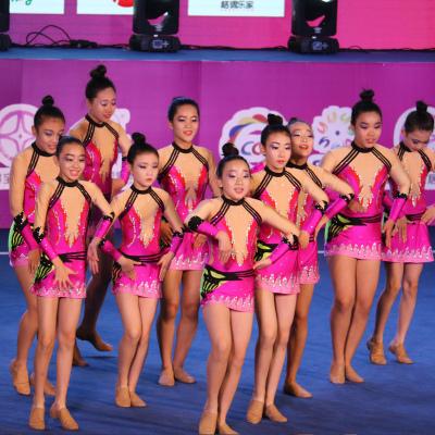 定制啦啦操比赛服啦啦队服竞技健美操服装体操服学生19新款成人女