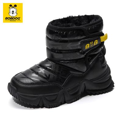 巴布豆BOBDOG HOUSE童鞋冬季新款儿童雪地靴棉鞋男女5-12岁童靴子加绒保暖中筒靴9445