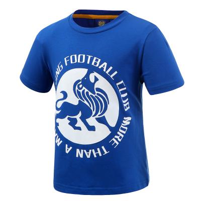 蘇寧足球俱樂部棉質休閑新品短袖印花圖案助威系列文化衫兒童T恤
