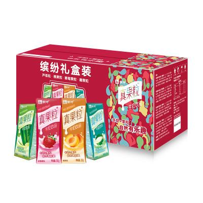 真果粒牛奶饮品(草莓+芦荟+椰果+桃果粒)250g*24 四种口味缤纷装(新老包装随机发货)