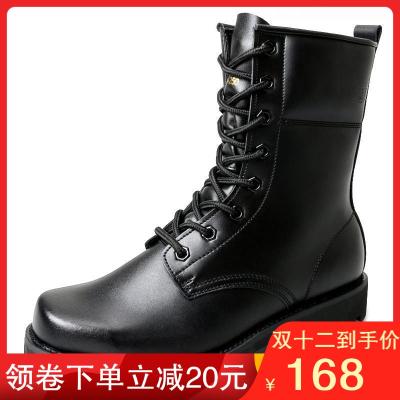 3515强人正品男特种兵真皮工装高帮作战靴 户外靴子单靴工装战术靴 户外登山鞋 男
